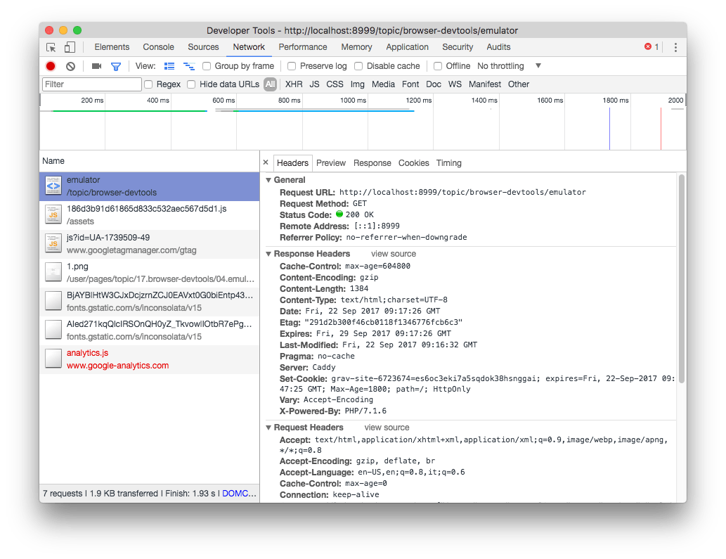 Overview of the Browser DevTools