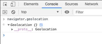 The geolocation object
