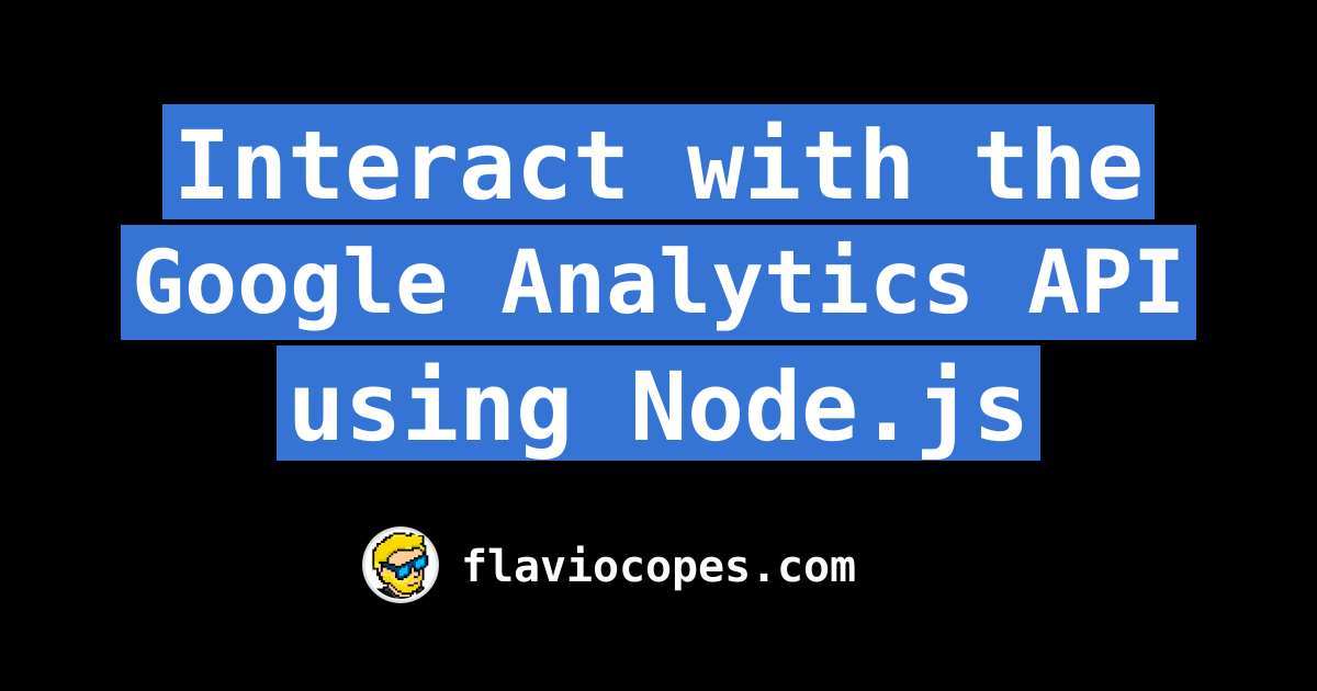 Interact with the Google Analytics API using Node js