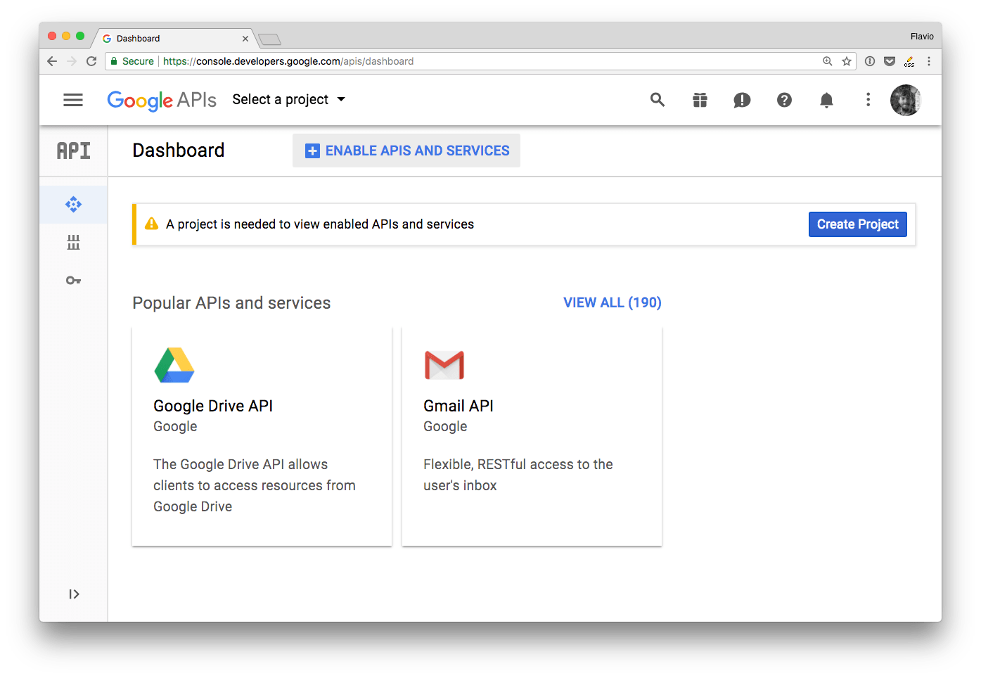 How to authenticate to any Google API