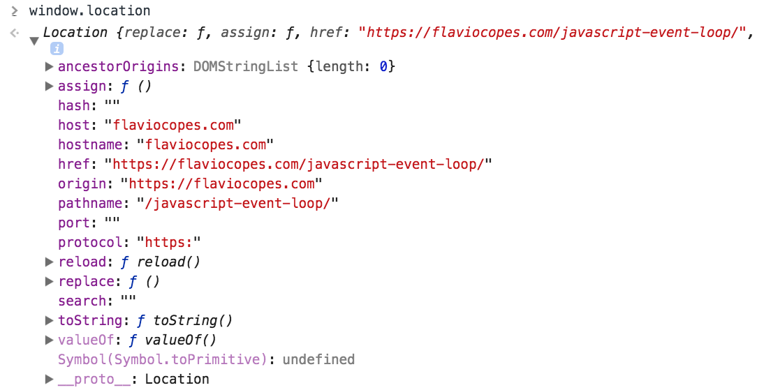 How to get the current URL in JavaScript