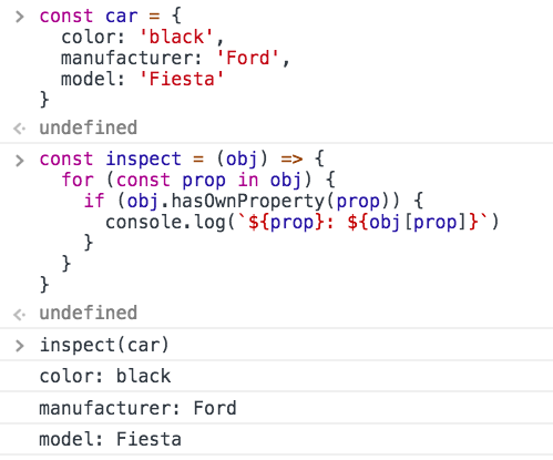 How to inspect a JavaScript object