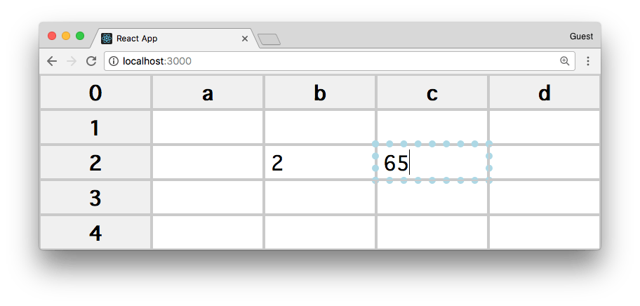 Tutorial: create a Spreadsheet using React