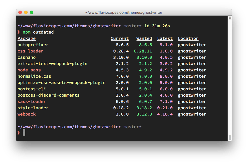 npm update package to latest