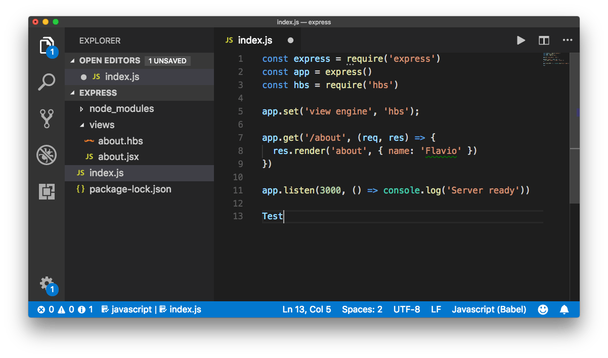 A Visual Studio Code Tutorial